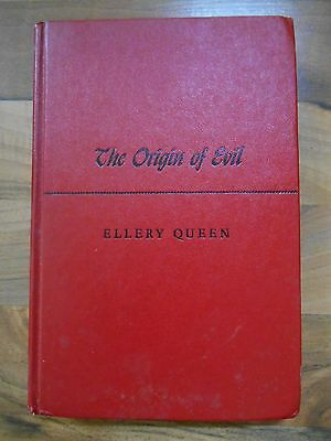 Old Vintage 1951 Book The Origin of Evil Ellery Queen Little Brown Boston 1st Ed