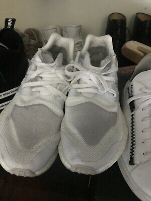 7bfeb3aa06051 ADIDAS Y-3 PURE Boost ZG Knit Triple White Mens Size 8 Rare BY8955 ...