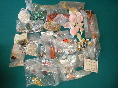 Doll Supply Items, Sequins, Buttons, Clasps, Beads,