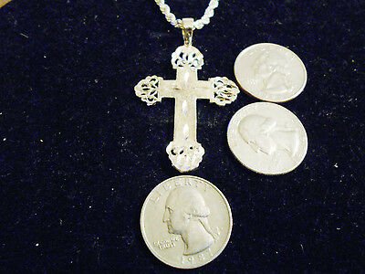 bling silver plated church fashion cross crucifix charm chain necklace jewelry