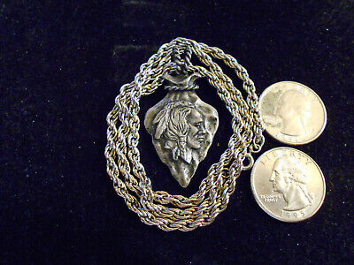 bling pewter indian tribe arrowhead pendant charm chain hip hop necklace jewelry