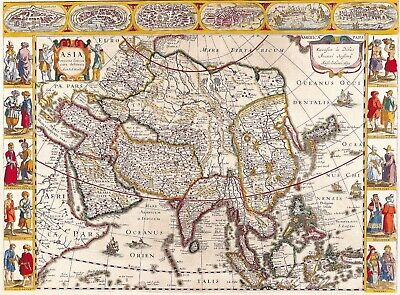 A4 Reprint of Old Maps of Asia