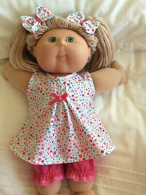 """DOLLS CLOTHES TO FIT 16"""" CABBAGE PATCH DOLL -  3Piece Set Tiny Flowers Pink"""