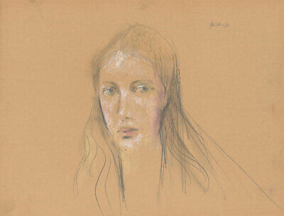 Peter Collins ARCA - 1980 Graphite Drawing, Portrait of a Young Woman