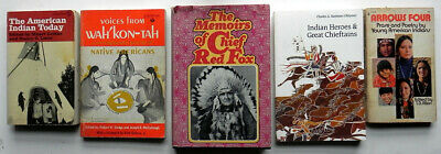 Lot Vintage Books about NATIVE AMERICAN INDIANS Chief Red Fox Heroes Chieftans