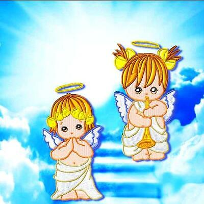 BABY ANGELS 2 MACHINE EMBROIDERY DESIGNS CD or USB