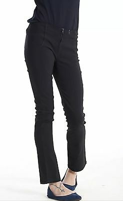 "New Miss Sexy Girls School Trousers Black Skinny Fit 29"" Leg, Ladies Zip"