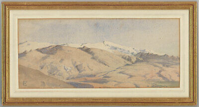 C.T. - Framed Early 20th Century Watercolour, Mountain Landscape