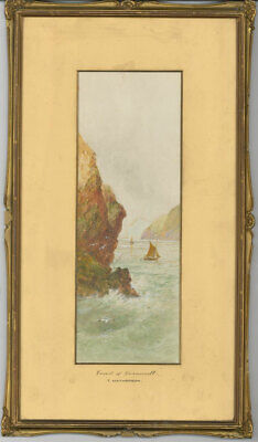 T. Matherson - Pair of  19th Century Watercolours, Cornish Coastal Landscapes