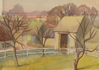 Mary Pierce - A Pair of  20th Century Watercolours, Farm Landscapes