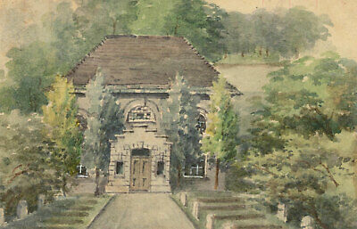 Charles T Miles - Early 20th Century Watercolour, Tree Lined Church