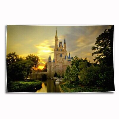 Disney castle Paintings HD Print on Canvas Home Decor Wall Art Picture 14x24