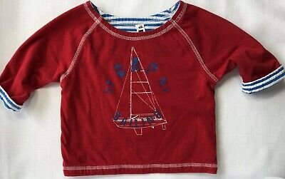 Baby Gap Boys 6-12 Months Red Sailing Shirt Reversible to Blue and White Stripes