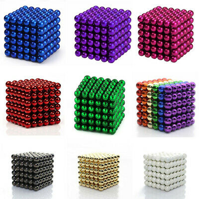 216 MAGNETS COLOURED BALLS | Beads Neodymium Magnetic Sphere Cube LUXURY AU 2019