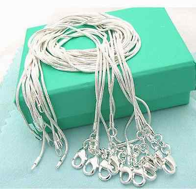 wholesale 925 Silver lots 10p 1.2mm snake chain Necklace 16-30inch