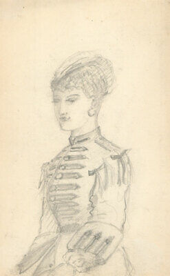 George Willoughby Maynard NA (1843-1923) - Graphite Drawing, Portrait of a Lady