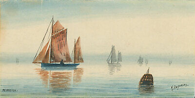 F. J. Reynolds - Signed Early 20th Century Watercolour, Peaceful Seascape