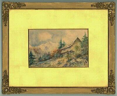 Leyton Forbes - Early 20th Century Gouache, Alpine Landscape with Chalet