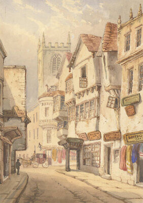 English School Late 19th Century Watercolour - Victorian London Street Scene