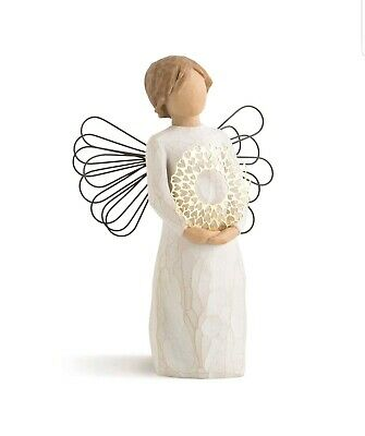 Statue Willow Tree hand painted sculpted angel Sweetheart Orginal Decoration