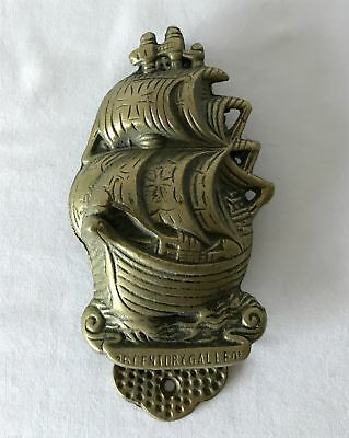 Very Large 16th Century Galleon Design Door Knocker 16x9cm Weight over 0.5kg