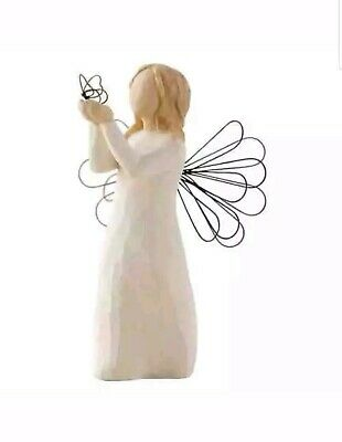 Statue Willow Tree hand painted sculpted Angel Of Freedom Orginal Decoration