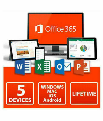 MICROSOFT OFFICE 365 ACCOUNT - 5 DEVICES + 5TB Cloud