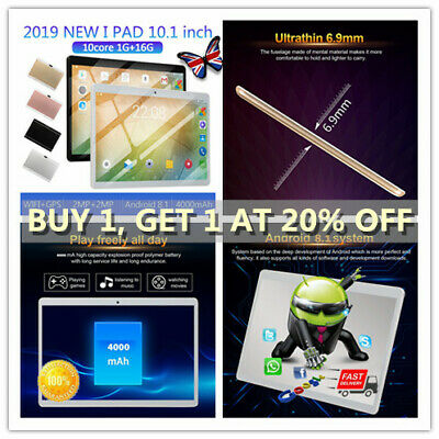 """10.1"""" inch 1GB+16GB Tablet PC Computer Laptop Android 8.1 Ten Core f1g"""
