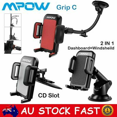 MPOW Universal 360° Car Phone Mount Holder Stand Windshield Dashboard CD Slot AU