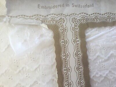 Vintage Swiss Broderie anglaise - 31 yards - in original packing