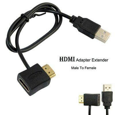 Premium HDMI Male Female A/V Adapter to USB2.0 Power Supply Connector Cable 50cm