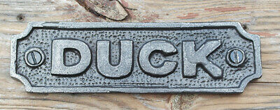 Cast Iron antique style DUCK Wall Plaque