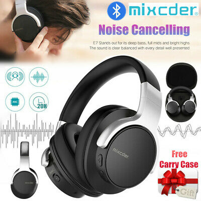 Mixcder E7 Wireless Bluetooth Stereo Noise Cancelling On Ear Headphones Earphone