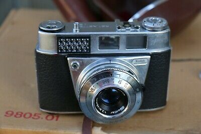 Lovely Kodak Retinette 1B Vintage Camera With Leather Case - Working!!