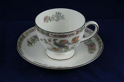Wedgwood Bone China Kutani Crane R4464 Tea Cup & Saucer