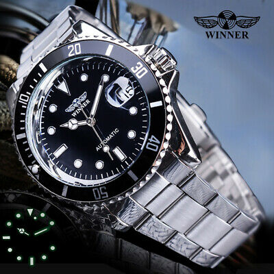 Winner Mens Stainless Steel Classic Automatic Mechanical Wrist Watches AU