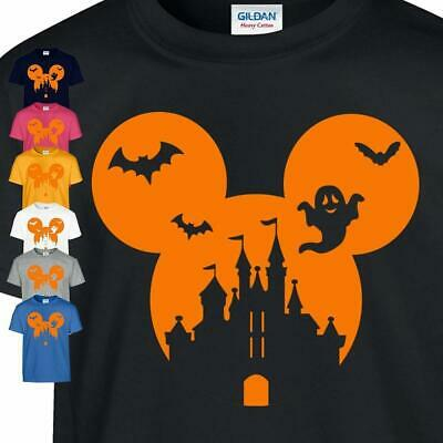 Halloween Mickey Adult Kid Disney World Florida Family Gift Casual Unisex Tshirt
