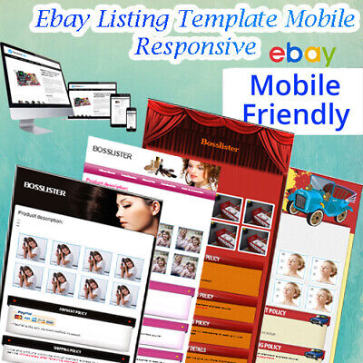 🔥Ebay Template Responsive Listing Professional Auction 🔥 Mobile 2019 Design 🔥