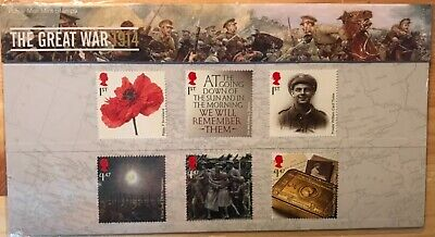2014 The Great War 1914 presentation pack No. 501 Face Value £6.51