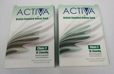 2 x Activa British Standard Sock Class 2 Compression Hosiery - FIS L14