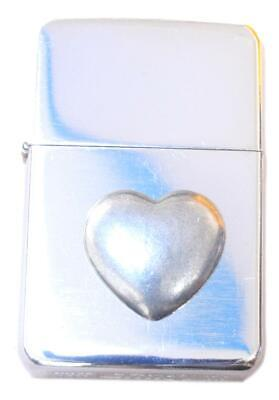 Love Heart Petrol Lighter Windproof FREE ENGRAVING Valentine Gift L408