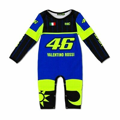 New - VR46 2019 Rossi Suit Replica Kids Overall/Baby Grow Blue - 6 Months