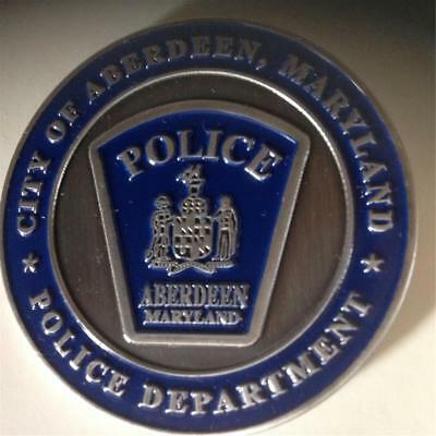 City of ABERDEEN ,MD, POLICE Department   CHALLENGE COIN -FREE POSTAGE
