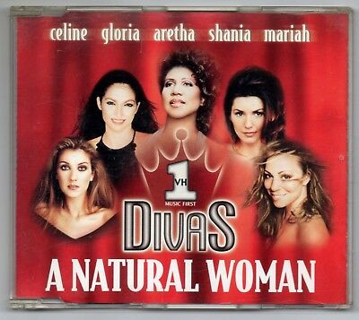 DIVAS MARIAH CAREY CELINE DION A natural woman VERY RARE AUSTRIA PROMO CD SINGL