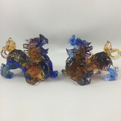 """Amore Jewell Little Brave Troops """"Pixiu"""" pair -Liuli Crystal Glass New arrival"""