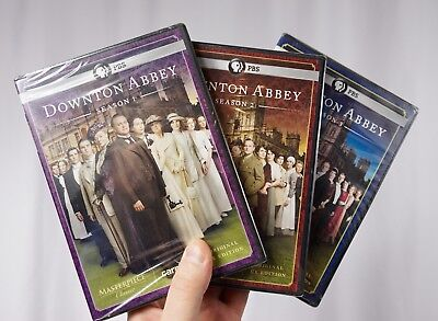 DOWNTON ABBEY DVD SETS, SEASON 1/2/3, NEW & SEALED PBS Video Masterpiece Classic