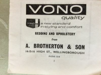 a1x ephemera undated advert wellingborough vono bedding a brotherton & son