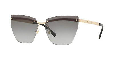 1d8b15d6d976c Versace 2190 1252 11 Pale Gold Frame Grey Gradient Lenses Sunglasses 58mm