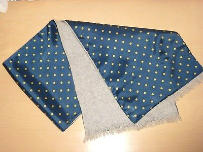 Vintage Reversible Scarf Cravat Spotted Dapper Mod Scooter Goodwood 60's 70s