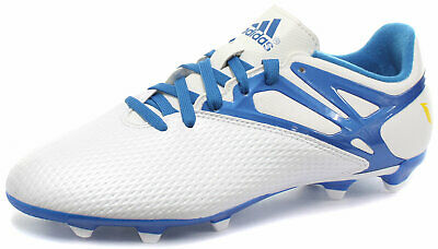 new concept 4a21e 121c7 adidas Messi 15.3 FG AG White Junior Football Boots Soccer Cleats Size UK  4.5